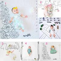 bebê prop dinossauro venda por atacado-5 estilos bebê infantil fotografia fundo comemoração cobertores Adereços fotográficos Rose car castelo Dinossauro Impressão roupas Fotográficas