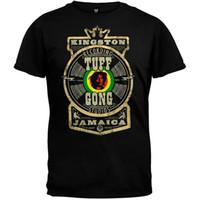 Wholesale black short bob styles online - 2018 New Summer Men Hot Sale Fashion Bob Marley Tuff Gong Label T ShirtDesign Style New Fashion Short SleeveGame Shirt
