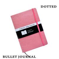 banda de puntos al por mayor-Dot Grid Cubierta dura Color caramelo A5 PU Portátil Banda elástica Dotted Bullet Journal Bujo