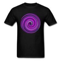 teste padrão moderno da camisa de t venda por atacado-Colorful Twirl Paisley Design Homens Faddish T-shirt de Manga Curta Moderna Padrão Geométrico Preto Roxo T Camisas Por Atacado