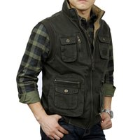 Tactical Vest Men Vest Sleeveless Jacket Men Mens Veats Casaco Army masculino Casual Multi Pocket Photographer Waistcoat XXL