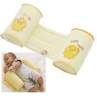 yassı kafa yastıkları toptan satış-Bebek Anti Rollover Yastık Saf Pamuk Uyku Pozisyonu Klişe Geri Yastık Düz Kafa Bolster Uyku Pozisyoner 8an jj doğrultmak