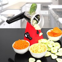 Wholesale chopper grater for sale - Group buy New Design Round Mandoline Slicer Vegetable Cutter Chopper Potato Carrot Grater Slicer With Stainless Steel Blades Kitchen Tool