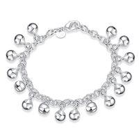 jingles armbänder großhandel-Brandneu! Jingle Bracelet925 Silber Armband JSPB056, Tier Geschenk Männer und Frauen Sterling Silber vergoldet Charm Armbänder