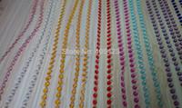 araña de cristal acrílico con cuentas al por mayor-15 m / lote Chandelier boda cristal decoración del árbol colorido octágono acrílico guirnalda con cuentas de la cortina