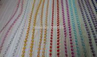 ingrosso albero di cristallo in rilievo-15m / lotto Chandelier wedding Crystal tree decorazione acrilico colorato ottagono perline tenda ghirlanda