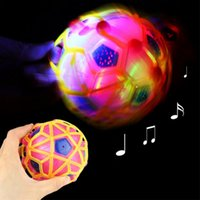 Wholesale funny football soccer - LED Light Jumping Ball Kids Crazy Music Football Bouncing Dancing Soccer Ball Children's Funny Toys Birthday Christmas Gift (Random Color)