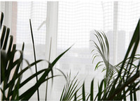 Wholesale white sheer fabric curtain - Modern contracted country style pure white lattice Sheer Curtains For Living Room Balcony Kitchen voile tulle curtain for window fabric