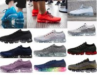 Wholesale Fabric For Printing - New Rainbow VaporMax 2018 BE TRUE Men Woman Shock Running Shoes For Real Quality Fashion Men Casual Vapor Maxes Sports Sneakers