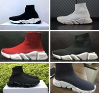 Wholesale Low Heeled Ankle Booties - 2018 new Black Sock Booties Sports Running Shoes,Training Sneakers Shoes,Speed Knit Sock High-Top Training Sneakers,size 36-45,free shipping