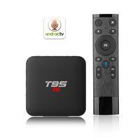 mini caja internet tv al por mayor-CAJA T95 S1 TV Amlogic S905W Quad-core Android 7.1 2.4G WiFi 100 100M Lan caja de TV por Internet de alta calidad 2GB 16GB Reproductor multimedia inteligente x96 mini