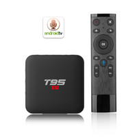 media player de qualidade venda por atacado-T95 S1 TV BOX Amlogic S905W Quad-core Android 7.1 2.4G WiFI Lan 100 M internet de alta qualidade caixa de tv 2 GB 16 GB inteligente media player x96 mini