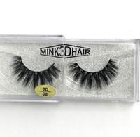 Wholesale Feathered False Eyelashes - New arrival Real Siberian 3D Mink Full Strip False Eyelash Long Individual Eyelashes Mink Lashes free shipping