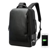 sırt çantası dizüstü bilgisayar 15 inç toptan satış-BOPAI Marka Büyüt Sırt Çantası USB Harici Şarj 15.6 Inç Laptop Sırt Çantası Omuzlar Erkekler Anti-hırsızlık Su Geçirmez Seyahat Sırt Çantası