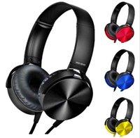 fone de ouvido falar venda por atacado-3.5mm de áudio na orelha com fio fones de ouvido sobre fone de ouvido fone de ouvido com controle talk para iphone / samsung / htc com retailbox