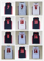 Wholesale olympic basketball jerseys - NCAA 1992 USA Dream Team #9 Mich JERSES Jersey #7 Larry Bird Olympic Game Basketball Jerseys Throwback Stitched blue white