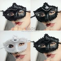 Wholesale clear resin face mask for sale - Group buy Halloween little lady mask fashion lady mask masquerade half face Venice ball mask
