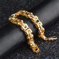 bracelet vintage en or 14k achat en gros de-Bracelet Hip-Hop Classique Hommes Bracelet Vintage Or Jaune Couleur Collier Chaîne 9 MM Bracelets Bijoux De Mode Pour Les Femmes pulseira