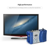 Wholesale Video Compact - High performance Compact RF Modulator Audio Video TV Converter RHF UHF Signal Amplifier AC230V