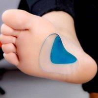 ingrosso solette ortopediche di gel per scarpe-1Pair Massager plantare Supporto plantare Plantari in silicone ortopedico Correzione del piede piatto Cuscinetti in gel Solette Inserti Cuscinetti