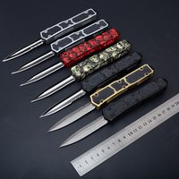 Wholesale Action Sword - MTautoTF Sword ant 15 models dual action D E blade Hunting automatic Pocket Knife Survival Knife Xmas gift for men A163 616 A161