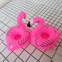 ingrosso decorazioni a piscina galleggiante per feste-20 * 17cm Pool Float Fun Flamingo Portabicchieri gonfiabile Ideale per feste in piscina Porta bibite da bagno e decorazione