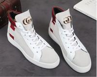 мужская обувь оптовых-Белая весна и осень Новая Англия корейский повседневная хип-хоп мужская обувь толстым дном высокая обувь обувь Мода Мартин сапоги
