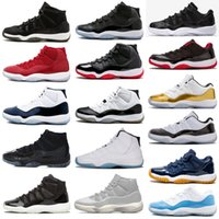 Wholesale Cap and Gown XI s PRM Heiress Black Stingray Gym Red Chicago Midnight Navy Space Jams Men Basketball Shoes