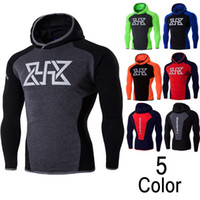 Wholesale sports clothes for sale - Group buy Brand Tracksuit Men Skinny Hoody Fashion Compression Clothes Slim Fit Sporting Mens Hoodies and Sweatshirts High Quality for Male