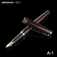 fonte baoer 388 venda por atacado-Baoer 388 Vermelho e Preto 5 cores Listras Caneta de caligrafia 1.0 mm Nib Fountain Pen