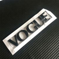 ingrosso 3d adesivo auto cromato-ABS Chrome auto auto argento nero VOGUE 3D posteriore tronco emblema adesivo decalcomania per lo sport SUV