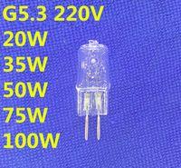 halojen 35w ampuller toptan satış-5 ADET halojen ampul g5.3 220 v 100 w 75 w 50 w 35 w 20 w Makine çalışma ampul 220 v g5.3 halojen