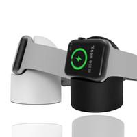 наручные часы магазин оптовых-Магнитный держатель для беспроводной зарядки Док-станция для Apple Watch Series 1 2 3 42мм 38мм Беспроводное зарядное устройство Настольная подставка Станция Pad