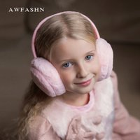 ingrosso pantofole per adulti-2018 New Winter Adult Per bambini paraorecchie calde donne peluche Earcap Lovely Unisex Ear Cover Earwarmers bambini slouchy sport