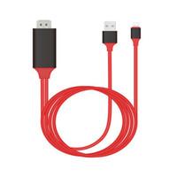 broches usb de câble achat en gros de-Câble HDMI HDTV 1080P pour Lightning Digital AV adaptateur pour iphone XS Max 8/7 câble USB à HDMI 8 broches pour ipad Mini Air Pro