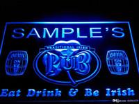 ingrosso segni irlandesi al neon della birra-DZ002-b Nome Personalizzato Irish Pub Shamrock Bar Beer Neon Sign personalizzato