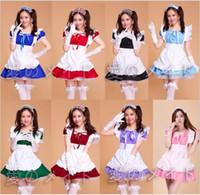 mais tamanho uniforme da empregada venda por atacado-Trajes de Halloween Para As Mulheres Sexy Francês plus size Maid Traje Doce Lolita Gótico Vestido Anime Cosplay Sissy Maid Uniforme