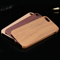 caja de madera vintage al por mayor-Patrón de textura de madera vintage Estuches de cuero para iPhone 8 7 6 6S Plus 5 5S SE Funda de madera blanda 8 Plus