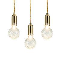 designer-industriebeleuchtung großhandel-Moderne Glas G9 LED Pendelleuchte Fixture Hanglamp Designer Loft Stil Retro Küche Lampe Metall Industrielle Beleuchtung Schlafzimmer Bar