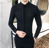 conceptions de chemise à carreaux occasionnels achat en gros de-Chemises à carreaux sexy pour hommes à carreaux à manches longues à manches longues Voir la conception