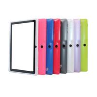 tablette taschenlampe kamera großhandel-Q88 7-Zoll-Tablet PC A33 Quad Core Allwinner Android 4.4 KitKat Kapazitiver 512 MB RAM 4 GB ROM WIFI Doppelkamera-Taschenlampe
