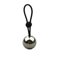 bälle tragen großhandel-Ein Silikon Penis Ringe Mit Einem Metallkugel Penisvergrößerung Gewicht Kleiderbügel Bahre Extender Stretche Sexspielzeug Für Mann