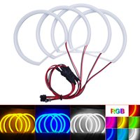 luz del proyector xenon al por mayor-4-Color 4 unids / set Car Xenon Cotton Angel Eyes Halo Ring Light para BMW E46 NON Proyector / E46 Coupe / E46 Sedan faro # 4739