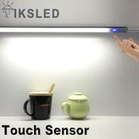 küchenleuchten großhandel-led streifen 1 stücke 0,5 mt 5050 kabinett licht led streifen dimmbare touch touch sensor lampe küche kleiderschrank schrank schrank