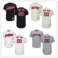 Wholesale indian names - custom Men's Women Youth Majestic Indians Jersey #00 Any Your name and number Nary Blue Kids Baseball Jerseys