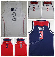 Wholesale team wall - The District of City Edition 2 John Wall Jersey Men Team Red Away White 3 Bradley Beal Basketball Jerseys Sports Uniform Pure Cotton Cheap