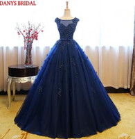 white dresses for sweet 15 Australia - Blue Puffy Quinceanera Dresses Ball Gown 2018 Tulle Sweet 16 Princess Flower Prom Dresses Gown for 15 Years vestido de 15 anos