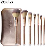 ingrosso set di spazzole zoreya-Pennello per trucco in vernice ZOREYA 8Pcs Set di pennelli per sirene correttore per la polvere Ombretto per trucco