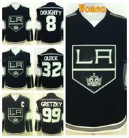 черные хоккейные команды оптовых-Лос-Анджелес Кингз женщины трикотажные изделия Хоккей 8 Дрю Даути 32 Джонатан быстрый Джерси Леди 99 Уэйн Гретцки команда цвет черный высокое качество