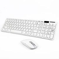 Wholesale multimedia designs - Modern Design Pure White Ultra Thin Design 2.4GHz Wireless Keyboard + Cover + Mouse Kit for Desktop Laptop PC Computer APE
